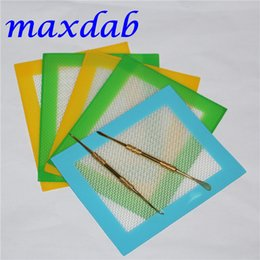 Wholesale 100pcs Silicone Wax Mats Square sheets pads mat barrel drum ml silicon oil container dabber tool for dry herb jars dab