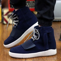 Wholesale Nouveau Hommes Haute Tops Chaussures Casual Mode confortable Respirant Lace Up Flats Coton d hiver Mode chaud Chaussures de Mens