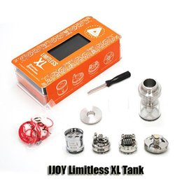 Wholesale 100 Original IJOY Limitless XL Tank ml mm Diameter Top Filling RTA with Rebuildable and Swappable Deck System