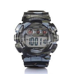 Wholesale Mens Sports Camouflage Military Watch Waterproof Muliti function Wristwatch Double Shows Day and Date for Outdoor Sports Gps Positioning