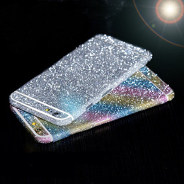 Wholesale For iphone s Plus Bling Degree Full Body Decal Skin Bling Glitter Phone Protective Sticker Wrap Phone Case