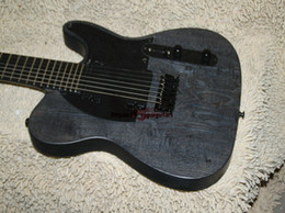 Custom 7 Strings Electric Guitar Black one piece neck Ebony fingerboard Electric Guitar From China HOT OEM Guitar
