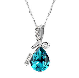 Crystal Angel Tears Jewelry Swarovski ELEMENTS Water Drop Pendant With Austrian Crystal Elegant Necklace For Women&Girls Mother's Day Gift