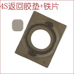 Wholesale New for S back key pad gasket rubber pad HOME key button with the iron sheet