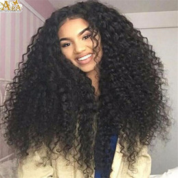7A good quality curly Full Lace Wig Lace Front Human Hair Wig for Black Women Heavy Density Malaysian Human Hair Wig
