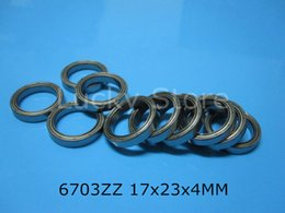6703ZZ bearing free shipping 6703 6703ZZ 17x23x4 mm chrome steel deep groove bearing metal sealed Thin wall bearing