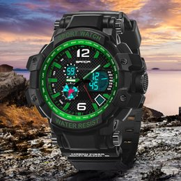 Wholesale 2016 Digital watch SANDA Sports Men Watches Outdoor Digital Watch Clock Barometer Thermometer Climbing Hiking Hours montre femme