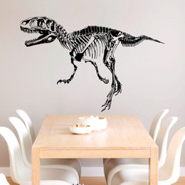 Wholesale Dinosaur fossils silhouette DIY home decorative wall stickers removable self adhesive vinyl sticker for home decor CM size pc opp bag