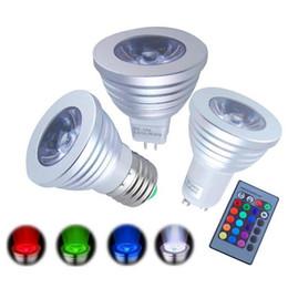 3W E27 GU10 E14 RGB LED Downlight AC85-265 RGB del proyector del bulbo LED con mando a distancia 16 que cambia de color RGB LED Spotlight desde cambiar las bombillas downlight proveedores
