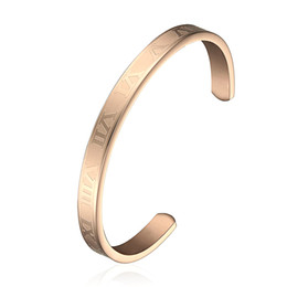 Newest Fashion Rose Gold 316l Stainless Steel Cuff Charm Cuff Pulseras Bracelets & Bangles Custom Wholesale Free Shipping
