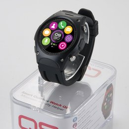 Wholesale Q8 outdoor sports smart watches with heart rate Barometers Altitude Thermometer waterproof IP68 bluetooth call dialer pedometer message push