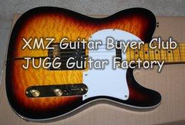 Hot Sale Custom Shop Telecaster Guitar Merle Haggard Signature Tuff Dog Tele Sunburst Guitare électrique d'or Hardware, érable flammé à partir de guitares de signature à vendre fournisseurs