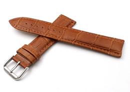 Durable Personalizado Hombres Mujeres Correa de reloj de piel de vaca 20mm Alta calidad de cuero impermeable Hebilla de aguja Watch Band Spot Supply Entrega rápida