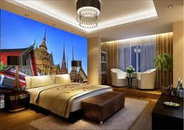 3d wallpaper custom photo non-woven mural wall sticker Thailand amorous feelings of building painting picture 3d wall room murals wallpaper