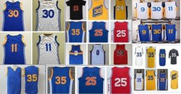 Wholesale 2016 Basketball Jersey Blue White Yellow Black Uniform Stitched Name and Number Hot Sale Shirts for Men Mix Order