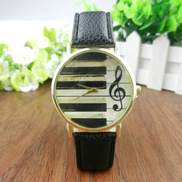 Wholesale 2016 New Arrival Fashion and Casual Music Operator Antique Students Quartz Watches Women Piano Key Dress Wristwatches