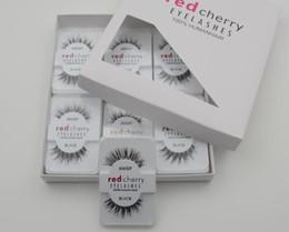 Wholesale 12 pairs pack False Eyelashes Soft Red Cherry Eyelashes Human Hair Eye Lashes Makeup Beauty Tools Eyelash Extension