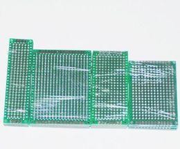 Wholesale 20pcs PCB Prototype Board Circuit Protoboard Universal Stripboard Prototyping Veroboard X8 X7 X6 X7 Each Mixed Double