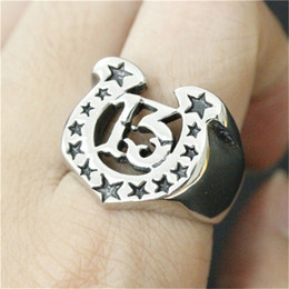 3pcs lot New Arrival Number 13 Stars Ring 316L Stainless Steel Fashion jewelry Band Party Cool Stars Ring