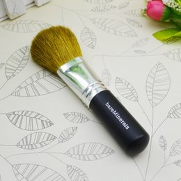 Wholesale 100 minerals cosmetic brush with wool and wood handle powder brush blush brush soft makeup brush DHL free