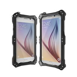 Wholesale Para Samsung Galaxy S6 caja del teléfono celular impermeable a prueba de choques a prueba de suciedad R Just Gundam cubierta de gran alcance Aerometal vidrio templado cubierta de buceo