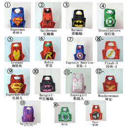 Wholesale 110 cm Costume Adult Superman Superhero Cape Batman Spiderman Supergirl Adult capes styles High Quality