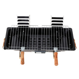 Wholesale BBQ Grill Garden Charcoal Barbecue Portable Picnic Camping Double Grill Broiler Outdoor Cooking Tool H16492
