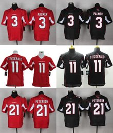 Wholesale 2016 Elite Men Jerseys Larry Fitzgerald Tyrann Mathieu Patrick Peterson Carson Palmer Red Black Stitched Free Drop Shipping
