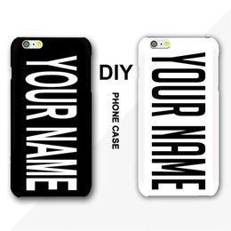 Wholesale DIY Name Case For iPhone S S Plus Inscription Text Black Background Letter or Photo Customized Cover For Samsung HTC Sony
