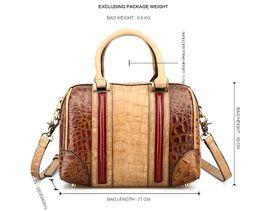 KISSUN Factory Vintage Boston Handbag Shoulder Bag For Women Antique Croco Pattern Fashion Classic Luxury Quality Top Grade