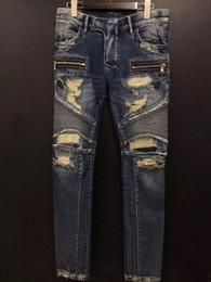 Wholesale best pant brands for men black jeans for men style mens black hip hop jeans joggers balmain jeans