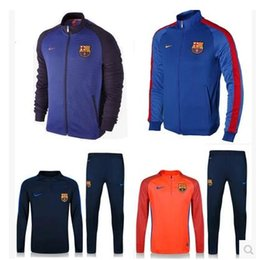 Wholesale 2016 barcelona messi jerseys Survetement tracksuit soccer maillot MANS ADULT training suits maillot Sweatshirts football shirt Pants