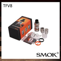 Wholesale Smok TFV8 Atomizer Smoktech ml TFV8 Cloud Beast Tank With V8 T8 V8 Q4 Coil Head Best Updated TFV4 Tank Original
