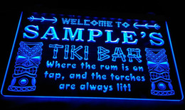 LS584-b Name Personalized Custom Tiki Bar Beer Neon Light Sign