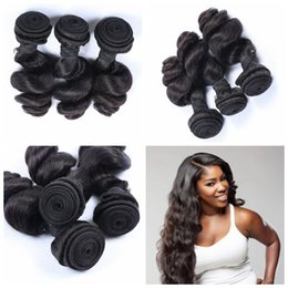Malaysian hair G-EASY human hair wefts extension loose wave 3 bundles malaysian wavy hair