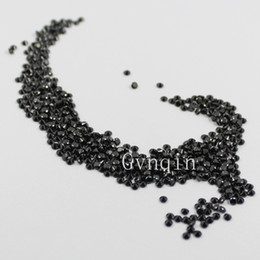 Wholesale 1000pcs AAA mm mm cubic zirconia black round loose gem stones