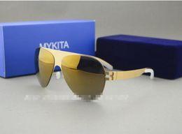 Gros chaude! Lunettes de soleil transparentes de lunettes de soleil de marque de caoutchouc de la meilleure qualité MYKITA et de cas de l'expédition libre pour les hommes et les femmes lunettes de soleil de plage à partir de meilleures lunettes de soleil gros fabricateur