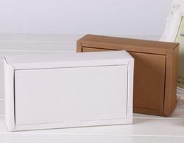 Latas de papel en venta-logo Venta directa de fábrica se pueden imprimir cajas de embalaje de papel Kraft caja de papel Clamshell envío libre 18 * 13 * 3cm