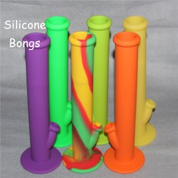 Wholesale Hot Sale Silicon Water Pipes glass bongs glass water pipe silicone water pipes good quality and DHL