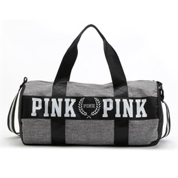 Wholesale 2016 Canvas secret Storage Bag organizer Large Pink Men Women Travel Bag Waterproof Victoria Casual Beach Exercise Luggage Bags