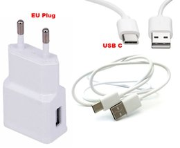 2A EU Plug Wall Cell Phone Charger Portable Travel Mobile Phone Charger+Type C USB Data Cable For ZTE Axon 2,Axon 7,Lenovo ZUK Z1,ZUK Z2 PRO