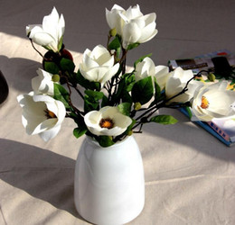Wholesale 2016 best selling artificial flowers single magnolia branch fake flowers silk wedding flowers home decoration HJIA490