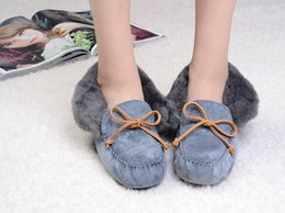 Wholesale Cotton shoes Peas snow boots New Autumn and Winter Models Pointed Fashion Casual Shoes Peas Shoes Women Shoes Rabbit Hair Thin
