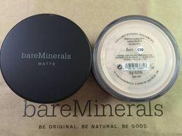 Wholesale Matte bare makeup Minerals original Foundation Fair c10 fairly medium C20 medium C25 fairly light N10 Light W15 medium beige N20 medium tan