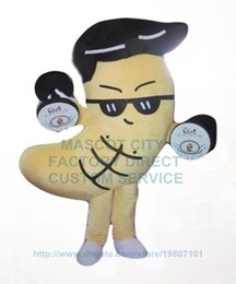 Wholesale Exercising power cashew mascot costume adult size hot sale cartoon cashew nut theme sport costumes carnival fancy dress