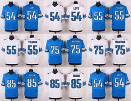 Wholesale 2016 Elite News Mens Jerseys DeAndre Levy Stephen Tulloch Larry Warford Eric Ebron Stitched Jerseys Free Drep Shipping