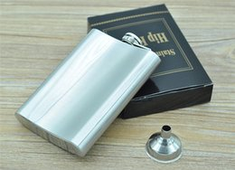 Wholesale Stainless Steel Hip Flask oz Pocket Hip Flasks Flagon Ounce Whisky Stoup Wine Pot Alcohol Bottle