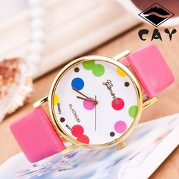Wholesale Geneva fashion ladies watch Ms color dots table sell like hot cakes
