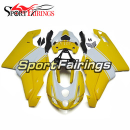 Complete Injecton Fairings For Ducati 999 749 03 04 2003 2004 ABS Plastic Motorcycle Fairing Kit Bodywork Motorbike Cowling Yellow White