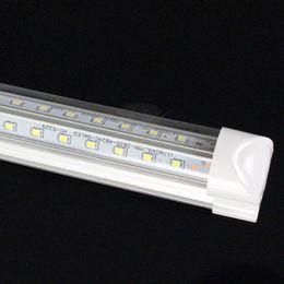 Wholesale Shopping V Shaped ft ft ft ft Led Tube Light T8 Integrated Led Tubes Double Sides SMD2835 Led Fluorescent Lights AC85 V CE RoHS FCC